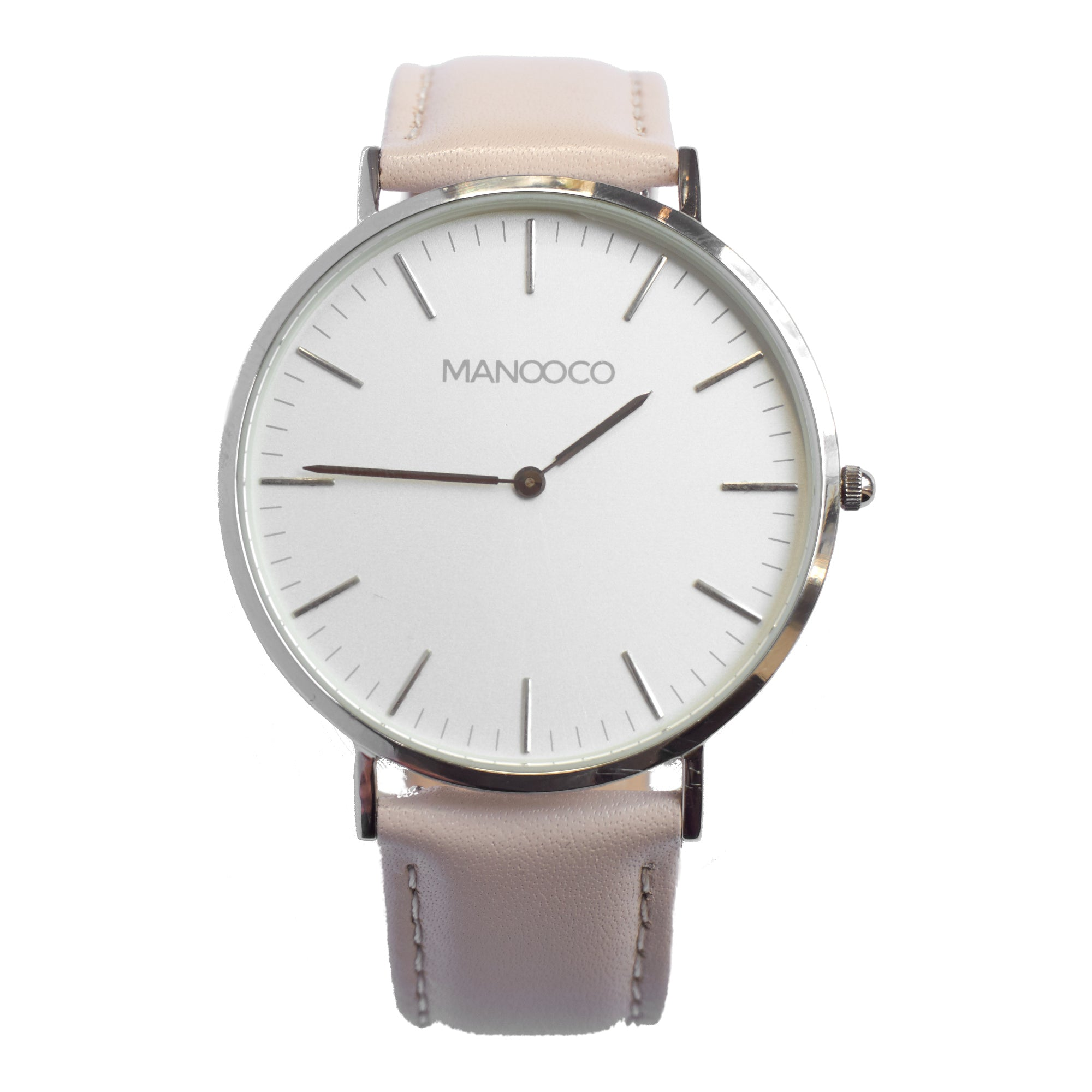 Zephyr Silver / Beige Leather - Watch - MANOOCO - Watch - manooco