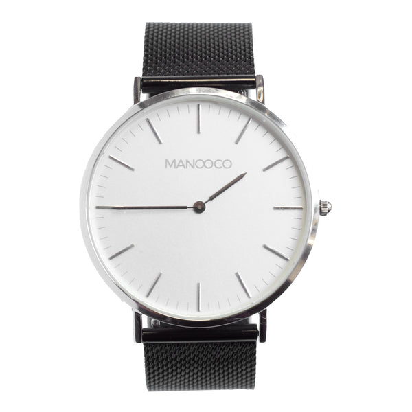 Zephyr Silver / Black Metal mesh - Watch - MANOOCO - Watch - manooco