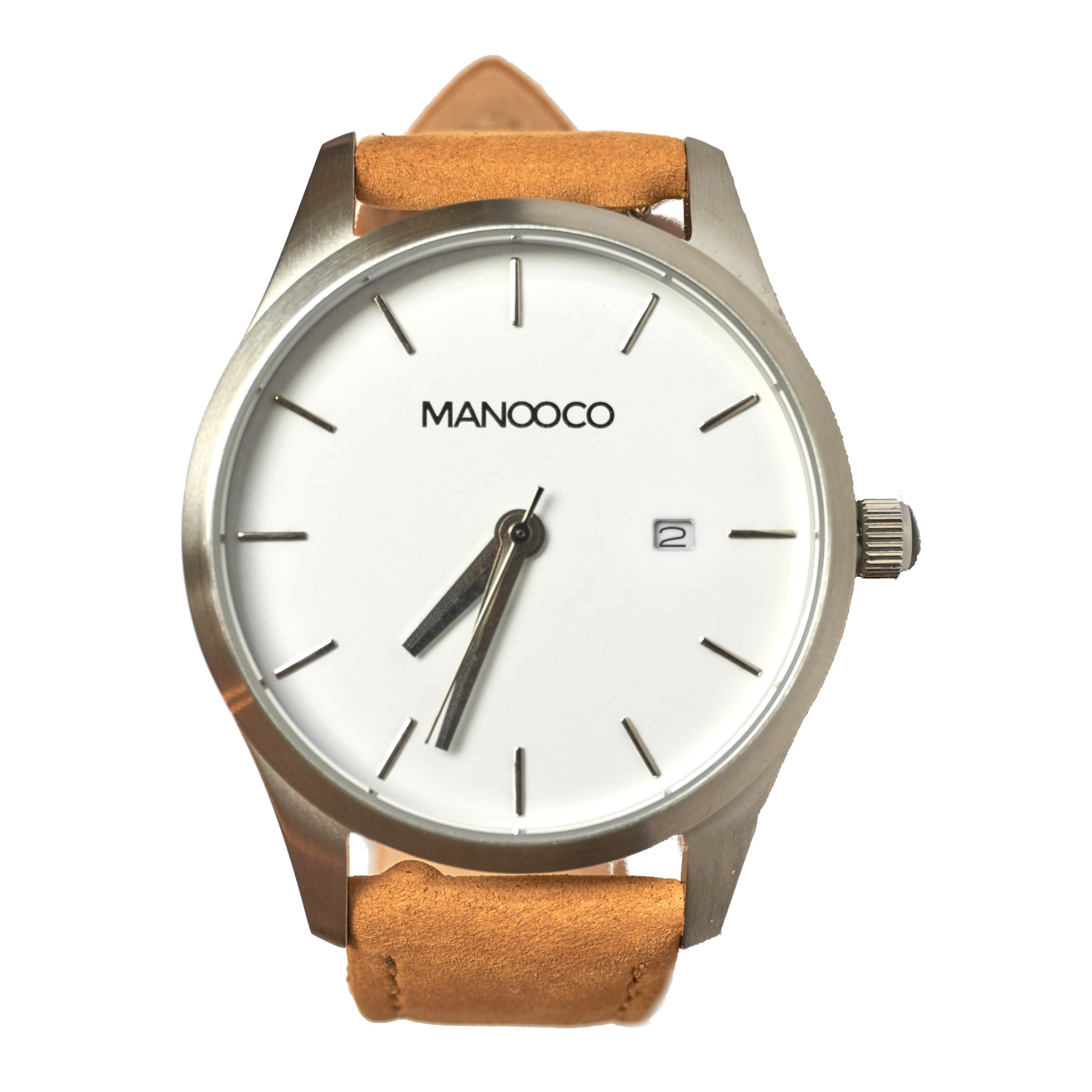 Sol Silver / Light brown Leather - Watch - MANOOCO - Watch - manooco