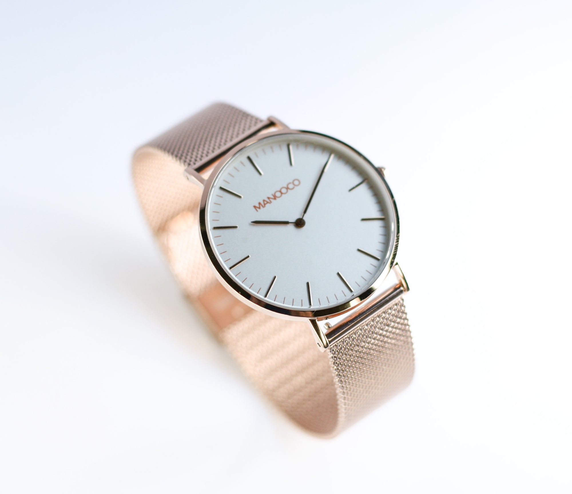 Zephyr Rose Gold / Rose Gold Mesh - Watch - MANOOCO - Watch - manooco
