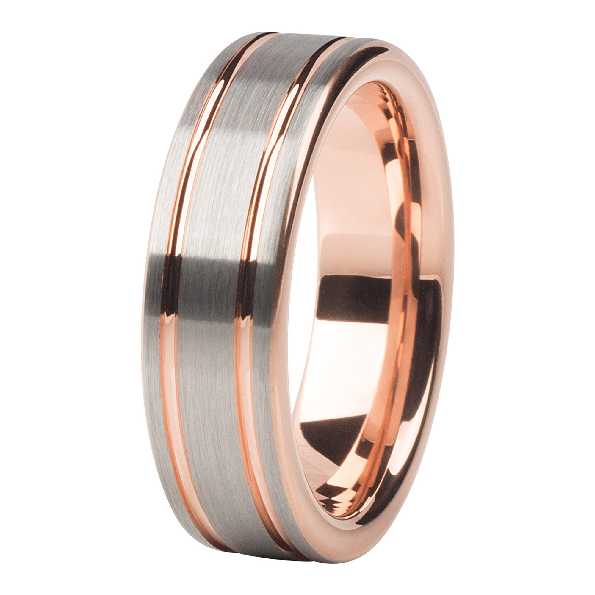 meteorite ring engagement wedding rose band carbide tungsten d inlay page gold x s rings product of copy
