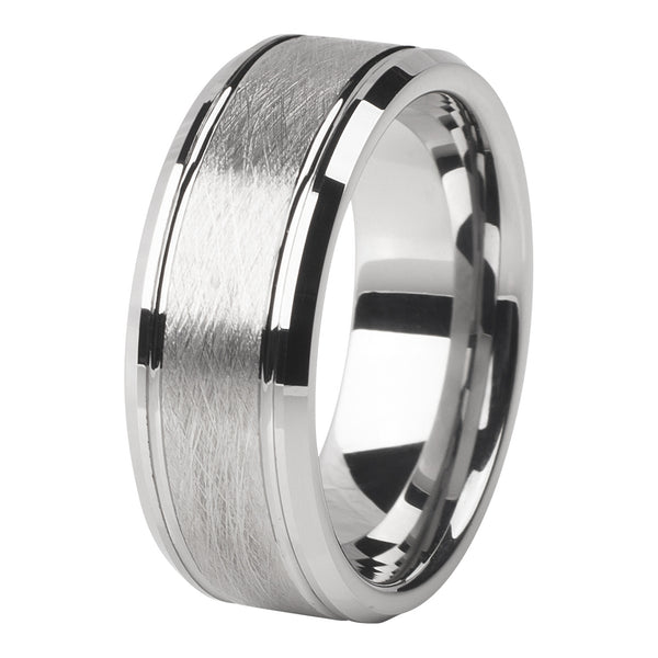 Brushed silver ring 8mm - Ring - MANOOCO - Ring - manooco