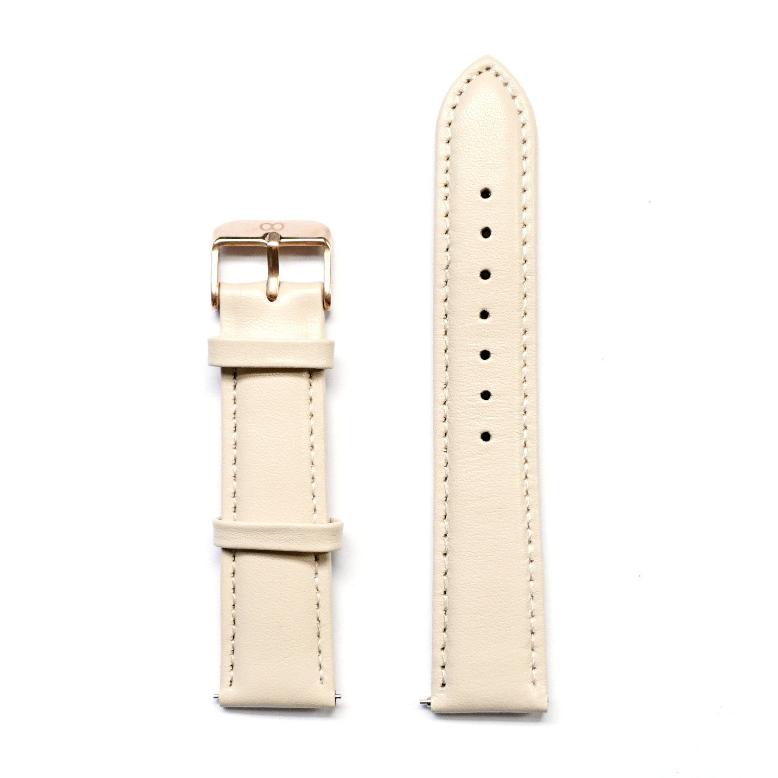 Beige Glossy Genuine Leather Strap - Strap - MANOOCO - Strap - MANOOCO