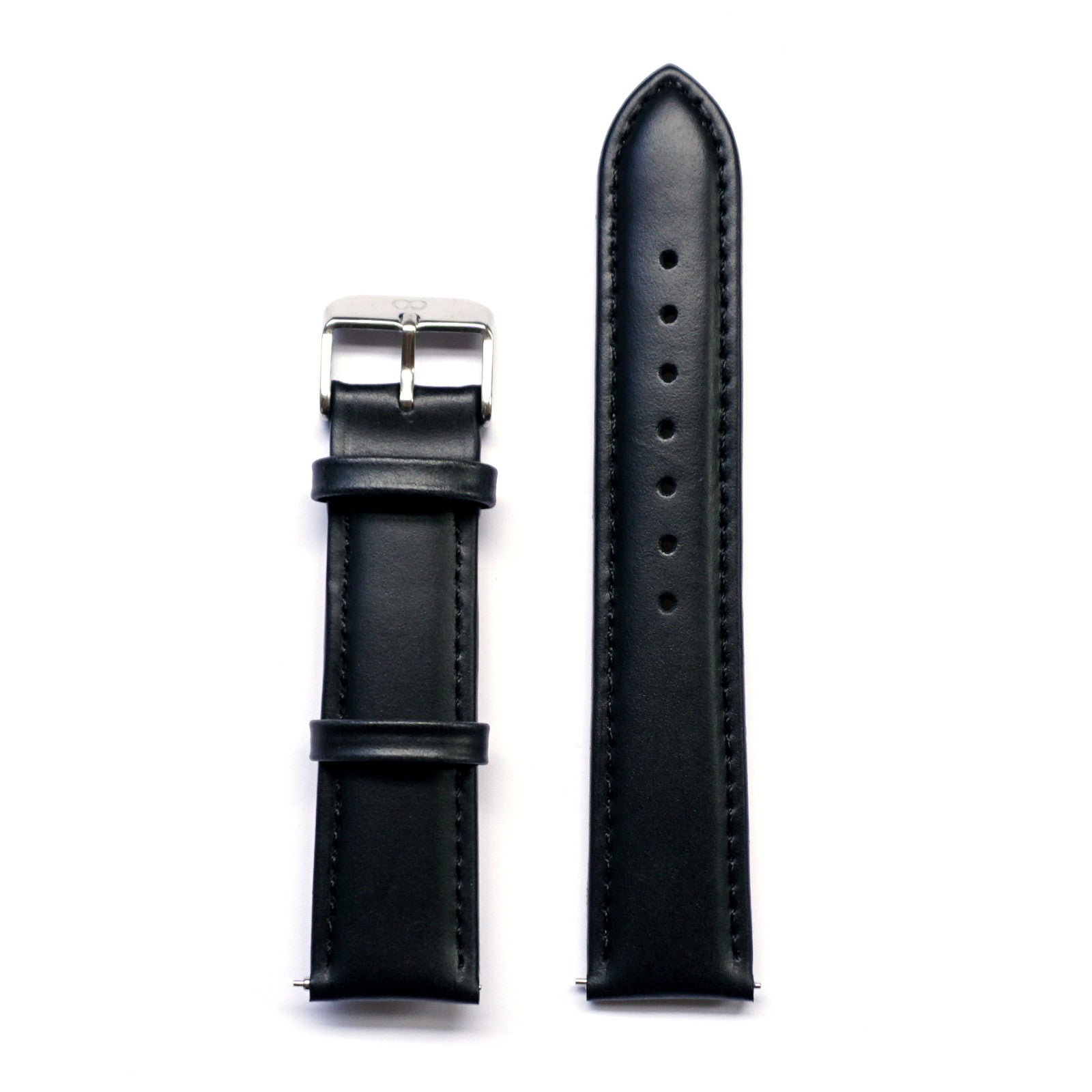 Black Glossy Genuine Leather Strap - Strap - MANOOCO - Strap - MANOOCO