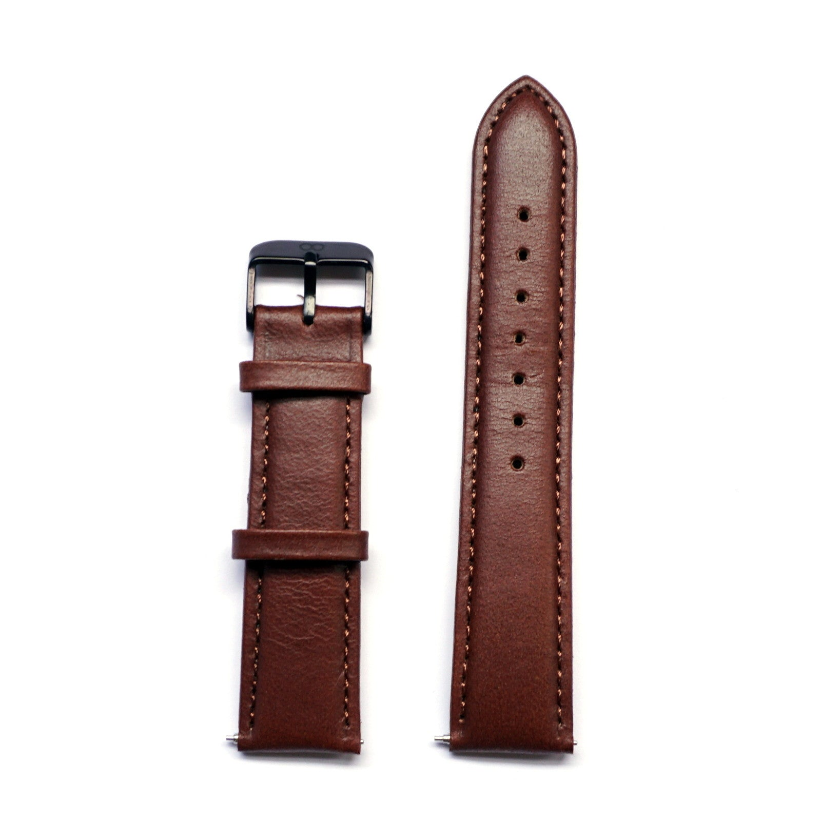 Brown Glossy Genuine Leather Strap - Strap - MANOOCO - Strap - MANOOCO