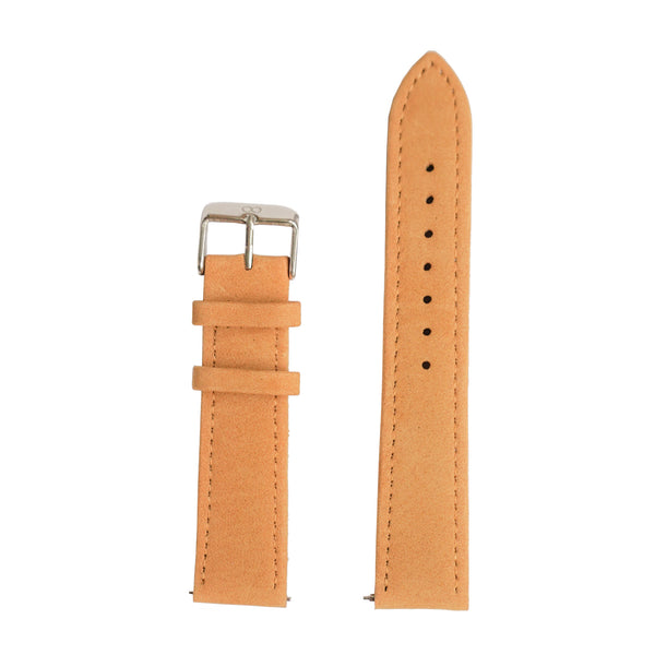 Light Brown Brushed Genuine Leather Strap - Strap - MANOOCO - Strap - MANOOCO