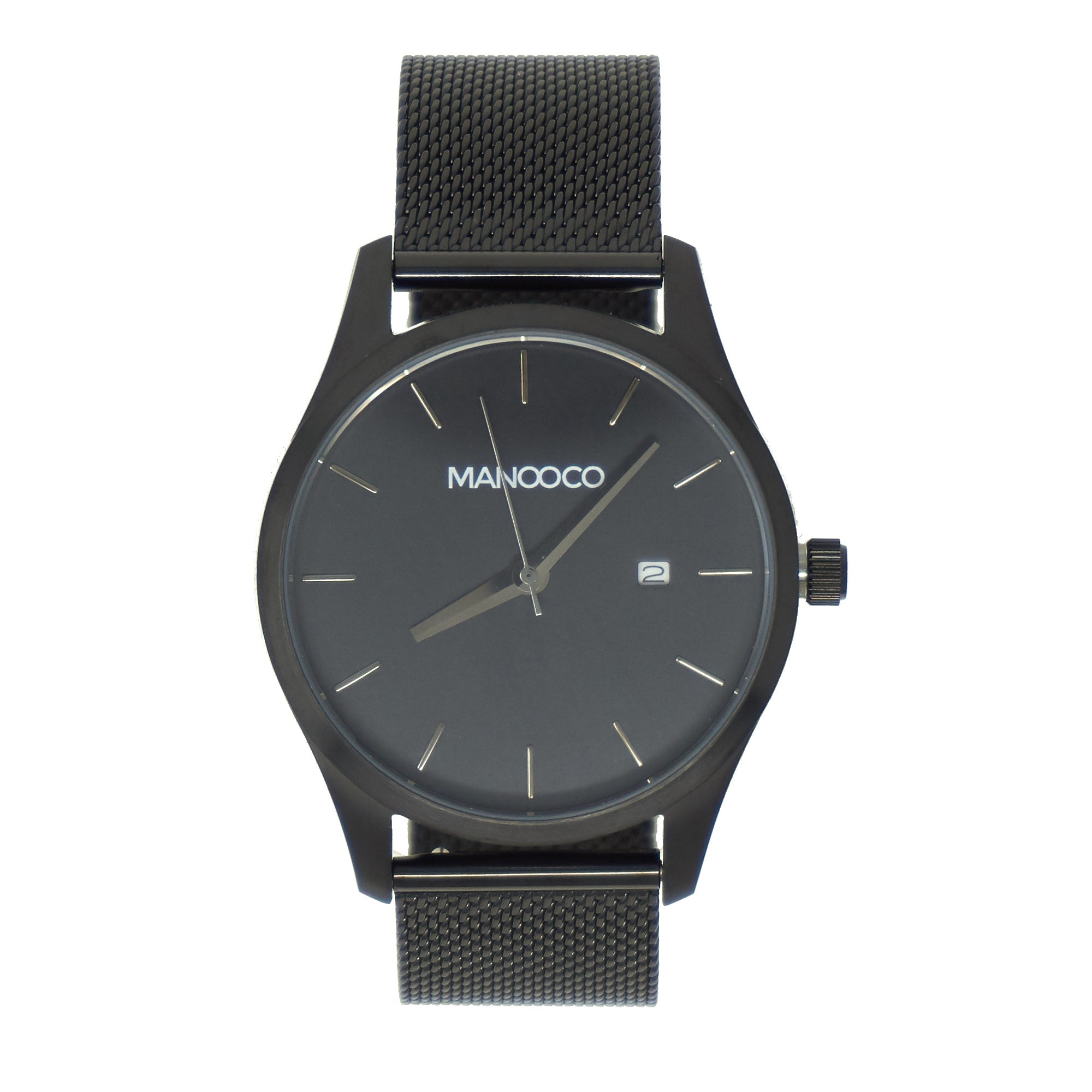 Sol Black / Black Metal mesh - Watch - MANOOCO - Watch - manooco