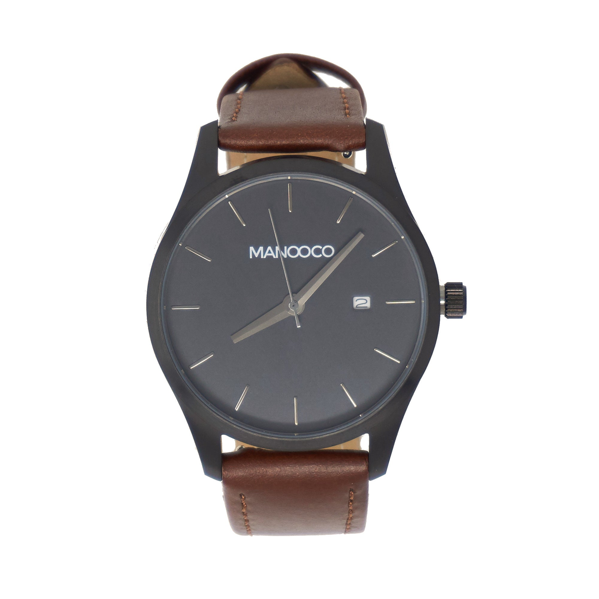 Sol Black / Brown Leather - Watch - MANOOCO - Watch - manooco