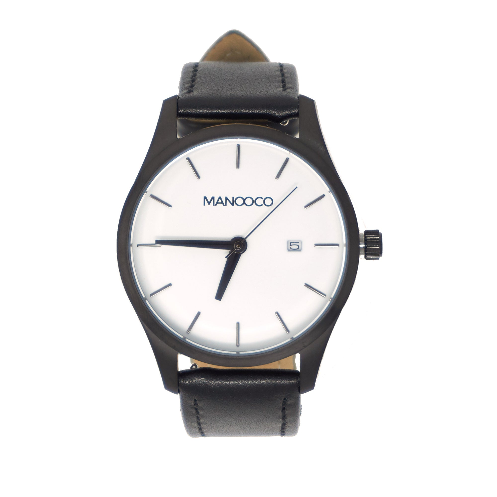 Sol White / Black Leather - Watch - MANOOCO - Watch - manooco