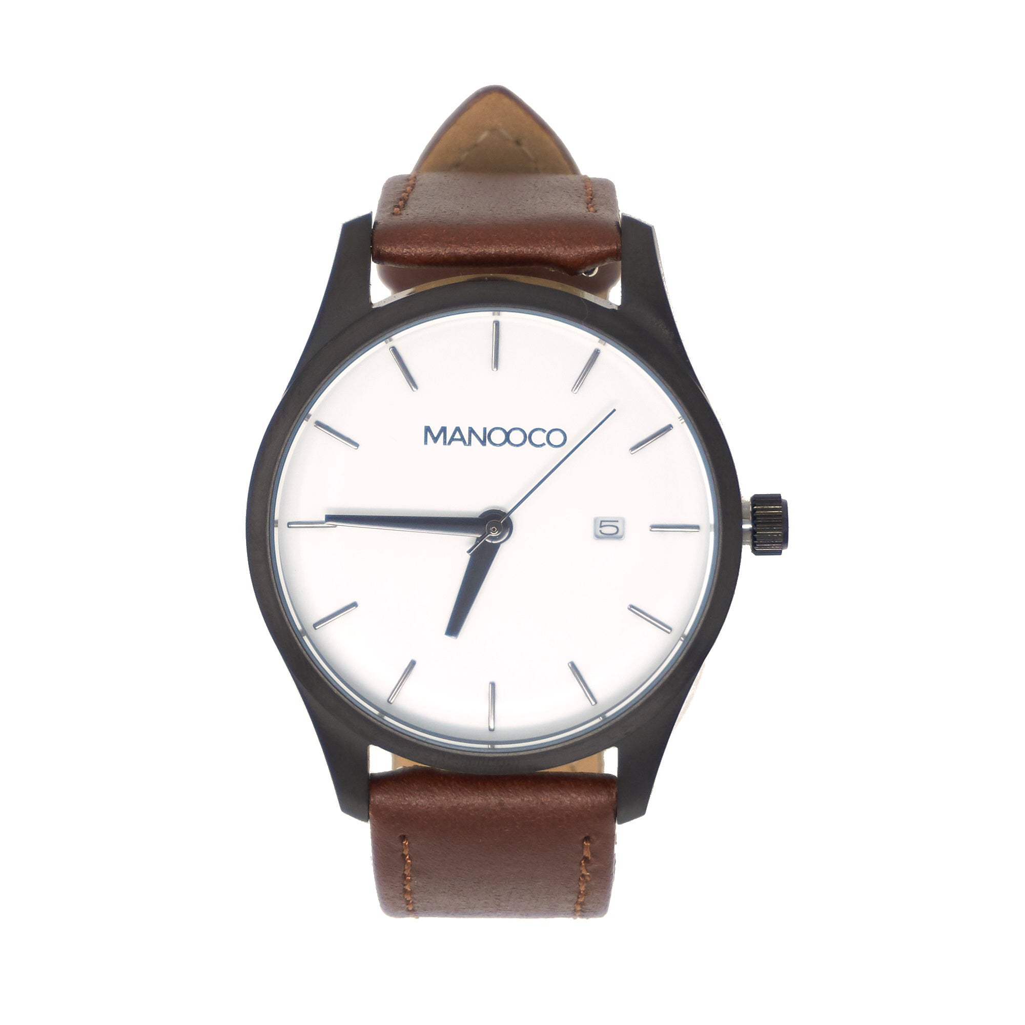 Sol White / Brown Leather - Watch - MANOOCO - Watch - manooco