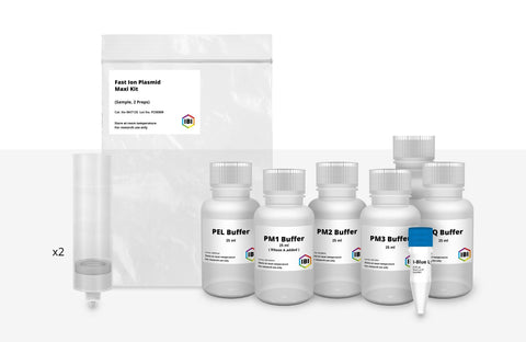 Maxi Fast-Ion Plasmid Sample Kit - 2 Preps