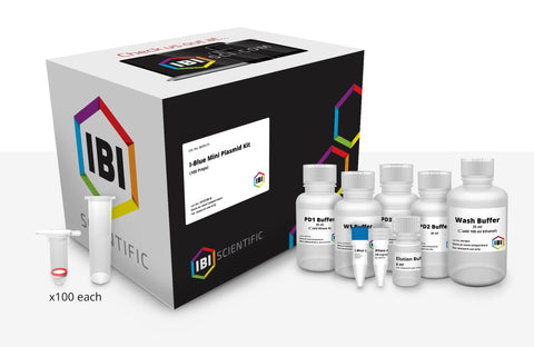 I-Blue Mini Plasmid Kit – 100 Preps