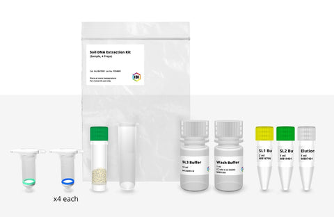 Soil DNA Extraction Sample Kit – 4 Preps