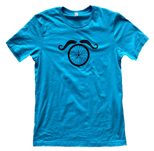 Wheel and Stache - Belgie Blue - Men's