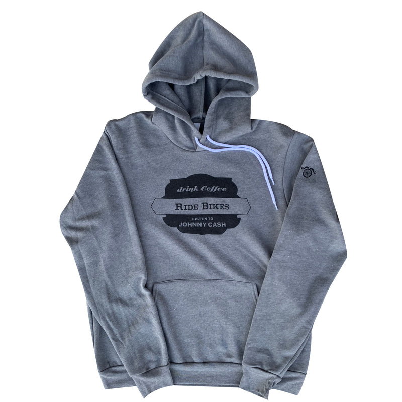 Bikes Coffee Cash Hoodie - Grey - Men's