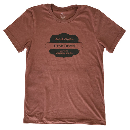 Bikes Coffee Cash - Heather Rust - Men's