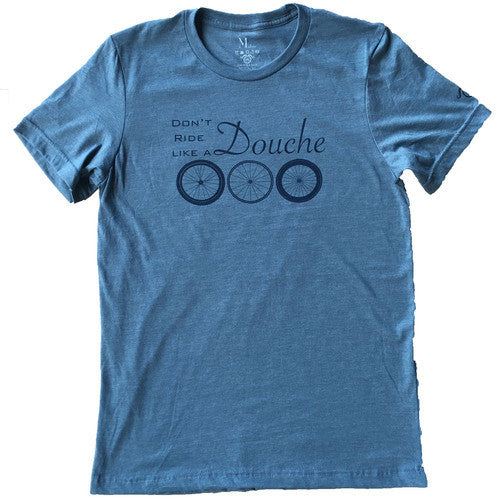 Don't Ride Like a Douche - Blue - Men's