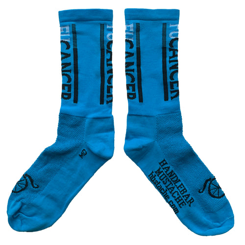 FUCancer 3.0 Socks - Neon Blue