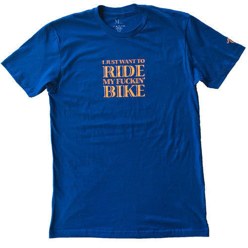 Ride my Fuckin' Bike - Blue - Men's