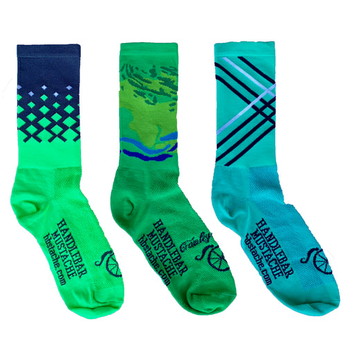 Sock Bundle - It's Easy Being Green (3 pairs)