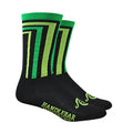 Crossbar Socks - Black/Green