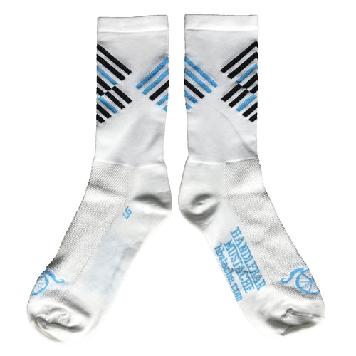 Offset Socks - White