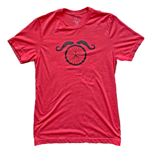 Wheel and Stache - Vintage Red - Men's