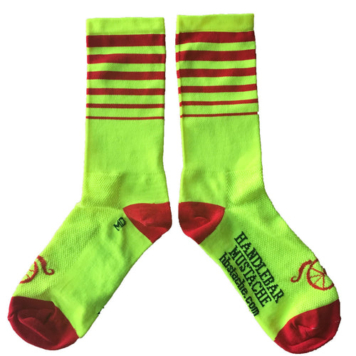 Between the Lines Socks - Red/Hi Vis