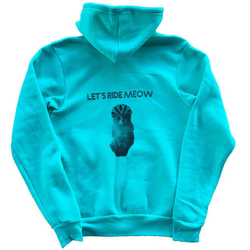 Ride MEOW Zip Hoodie - Teal - Men's