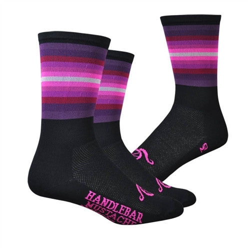 The Wall Socks - Black/Pink