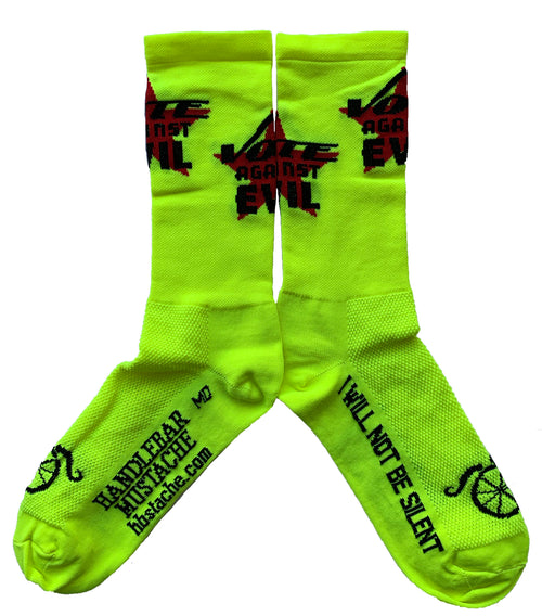 Speak Out Socks - Vote Against Evil - Hi Vis