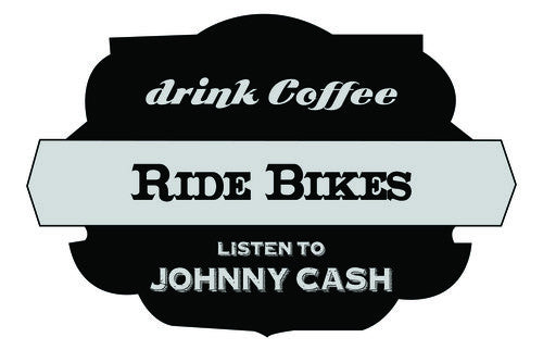 Sticker - Bikes Coffee Cash