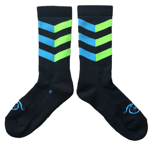 Winter in the City Socks - Blue/Hi Vis