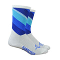 Decade Plus Socks - White and Blue