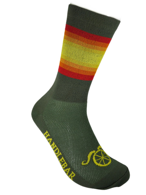 The Wall Socks- Olive Drab Sunset