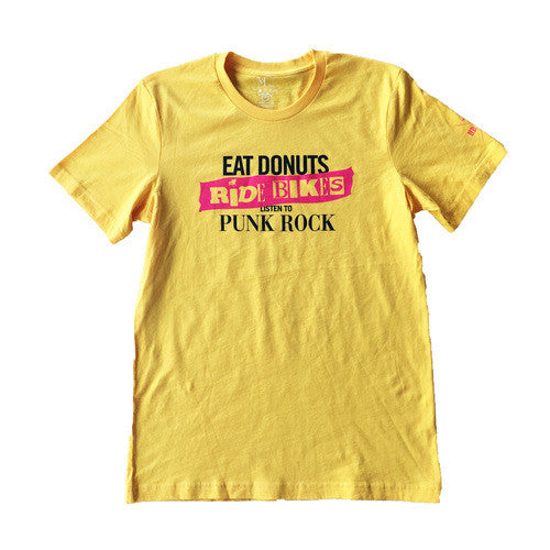 Bikes Donuts Punk - Yellow - Men's