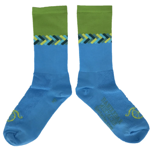 Don't Get it Twisted Socks - Blue/Lime