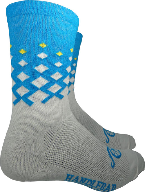 Rise Socks - White/Blue