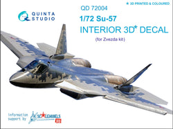 SU-57 - 3D-Printed & coloured Interior for Zvezda (grey & blue panels)