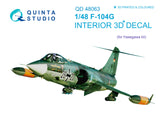 F-104G 3D-Printed & coloured Interior on decal paper (for Hasegawa kit)