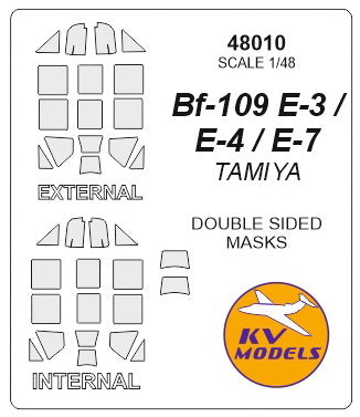 Bf-109E-4/7 Trop (double sided) Masks (Tamiya)