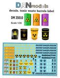 Toxic waste decals for barrels