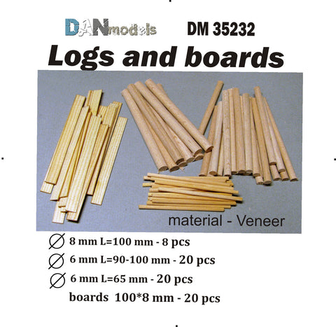 Logs and Boards for Dioramas