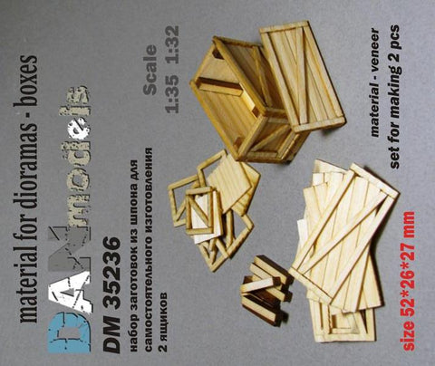 Wooden Boxes for Dioramas