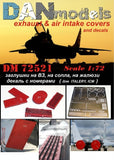 Mig-29 Exhaust & Air Intake Covers with Decals