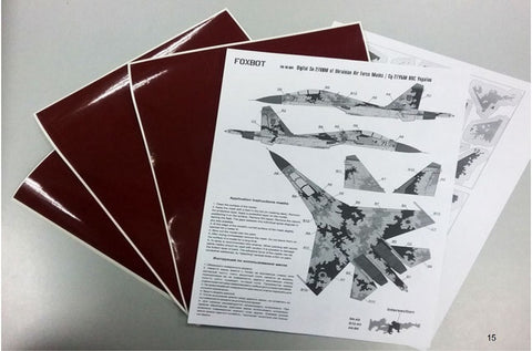 Digital camouflage masks for Ukrainian Su-27UB