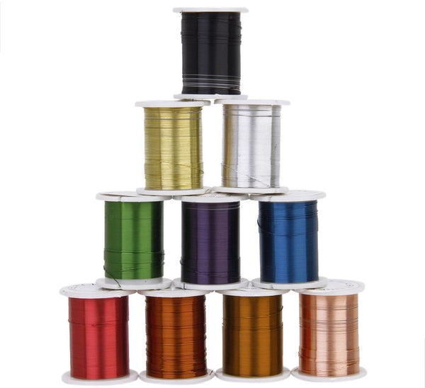 Coloured 0.30mm Coil Iron Wire (Choose Color) - 3m length
