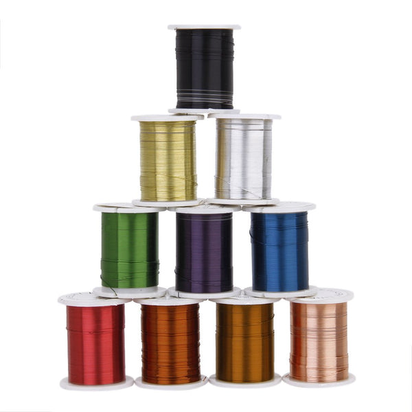 Coloured 0.30mm Coil Iron Wire (Choose Color) - 10m length