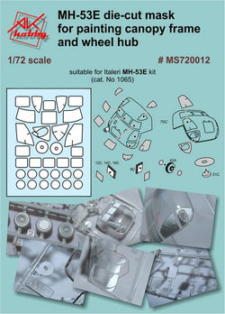 MH-53E die-cut masks for canopy and wheels (for Italeri)