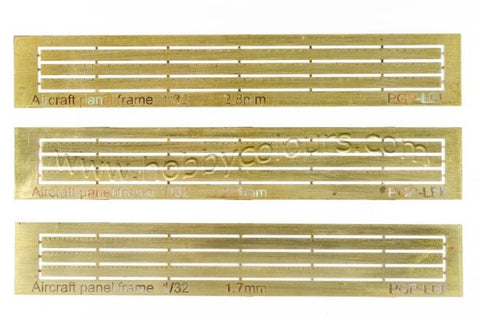 Aircraft Open Panel Strips Set 1/32